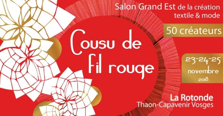 Salon cousu de fil rouge