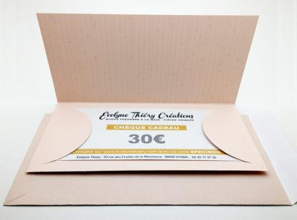 chèque cadeau dans son enveloppe