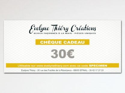 carte cadeau chèque cadeau bijou artisanal de créateur