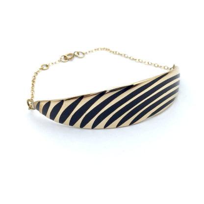 Bracelet art déco or et noir