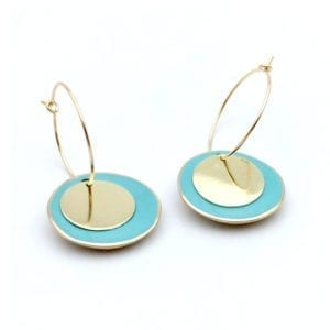 BO rondes turquoises